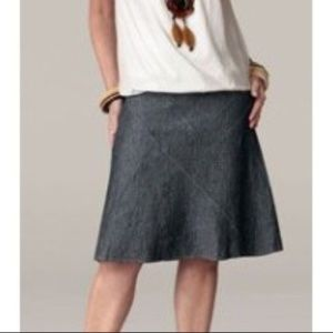 CAbi Denim Topstitched Paneled A-Line Skirt Size 8